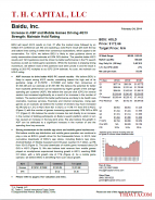 BIDU: Increase in ASP and Mobile Games Driving 4Q13 Strength; Maintain Hold Rating