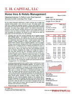 HMIN: Adjusting Estimates To Reflect Lower Than Expected Revenue Growth; Lowering Price Target