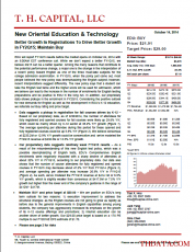 EDU: Better Growth In Registrations To Drive Better Growth in FY2Q15; Maintain Buy