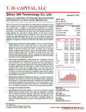 QIHU: Expect At Least Inline 3Q14 Results; New Investments and Initiatives For Future Upside; Maintain Buy