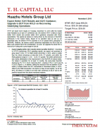 HTHT: Expect Better 3Q15 Results and 4Q15 Guidance; Upgrade to BUY from HOLD on Recovering Underlying Operations