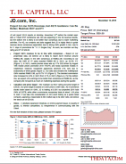 JD: Expect In Line 3Q15 Revenue, but 4Q15 Guidance Can Be Better; Maintain BUY and PT