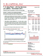 T. H. Data Flash – eHi Car Services Ltd. (EHIC) – November 2015: Utilization Rates and Number of Stores Declined M/M