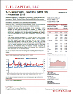 T. H. Data Flash – CAR Inc. (0699-HK) – November 2015: Number of Stores Continues to Grow Y/Y; Utilization Rate Increased While Rental Rates Declined M/M in November