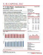 T. H. Data Flash – Autohome Inc. (ATHM) – November 2015: Paying Dealers Continue to Increase for ATHM