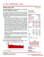 SOHU: 4Q15 Results May Be In Line; Guidance for 1Q16 May Be Below; Maintain Hold Rating