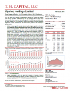 VIPS: Data Suggest Better 4Q15 Results; Inline 1Q16 Guidance