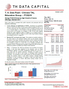 T. H. Data Flash – Chinese TAL Education Group (TAL) – FY2Q18: Strong FY2Q18 Driven by High Growth of Course Offerings; Maintain BUY
