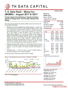 T. H. Data Flash – Momo Inc. (MOMO) – August 2017 & 3Q17: Positive Impact from Marketing & Channel Activities; Growth of Paying Users Yet to be Seen, Maintain Buy Rating
