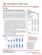 YY: 3Q17 to be Driven by More Variety of Content and Social Features Within YY Live; Maintain Buy Rating