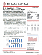 T. H. Data Flash - YY Inc. – November & Preliminary 4Q17: Business Adjustments Have Positive Impact on Users and Hosts; Maintain Buy Rating & Raise PT