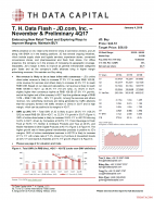 T. H. Data Flash - JD.com, Inc. (JD) – November & Preliminary 4Q17: Embracing New Retail Trend and Exploring Ways to Improve Margins; Maintain BUY