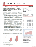 T. H. Data Flash - New Oriental Education & Technology (EDU) – FY2Q18: Rapid Expansion Drives Growth of Courses, Attendees and Revenues in FY2Q18