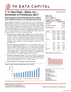 T. H. Data Flash - Baidu, Inc. (BIDU) - November & Preliminary 4Q17: Baidu Usage Increased Significantly Due to News Feed; Making Progress in AI; Maintain Buy Rating
