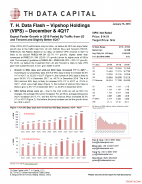 T. H. Data Flash - Vipshop Holdings (VIPS) – December & Preliminary 4Q17: Expect Faster Growth in 2018 Fueled By Traffic from JD and Tencent and Slightly Better 4Q17