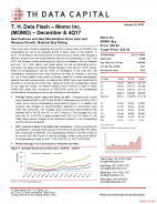T. H. Data Flash - Momo Inc. (MOMO) – December & 4Q17: New Features and New Monetization Drive User and Revenue Growth; Maintain Buy Rating