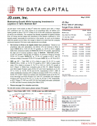 JD: Maintaining Growth While Increasing Investment in Logistics in 1Q18; Maintain BUY