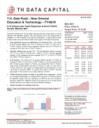 T.H. Data Flash - New Oriental Education & Technology – FY4Q18: K-12 Courses and Faster Expansion to Drive FY4Q18 Growth; Maintain BUY
