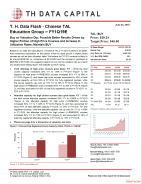 T. H. Data Flash - Chinese TAL Education Group – FY1Q19E: Buy on Valuation Dip; Possible Better Results Driven by Higher Portion of High Price Courses and Increase In Utilization Rates; Maintain BUY