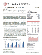 T. H. Data Flash - JD.com, Inc. (JD) – 2Q18E: Ecommerce in China is Reaching Its Maturity and Facing the Pressure of Structural Changes; JD is Seeking New Growth in Logistics and is Still Ramping; Lower PT