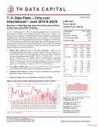 T. H. Data Flash - Ctrip.com International (CTRP) – June 2018 & 2Q18: Business in 2Q18 May See Some Slow Down Due to More Issues Associated With Ticketing