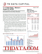 T. H. Data Flash – Baozun – August & 3Q18E: Continued Addition of Brand Partners; But No One Can Be Insulated from China's Macro Slowdown