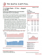 T. H. Data Flash – YY Inc. – August & 3Q19E: Positive Into 3Q19E Performance Driven By Better User Growth From YY Live and Huya