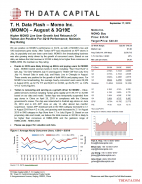 T. H. Data Flash – Momo Inc. (MOMO) – August & 3Q19E: Higher MOMO Live User Growth And Relaunch Of Tantan Are Positive For 3Q19 Performance; Maintain Buy Rating
