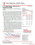 T. H. Data Flash – JD.com, Inc. – August & 3Q19E: Investment In New Initiatives Led To Better Performance In 3Q19
