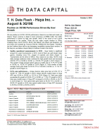 T. H. Data Flash - Huya Inc. – August & 3Q19E: Positive on 3Q19E Performance Driven By User Growth