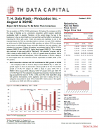 T. H. Data Flash - Pinduoduo Inc. – August & 3Q19E: Expect 3Q19 Revenue To Be Better Than Consensus