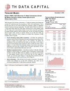 TME: Expect TME's 3Q19 Revenue To Beat Consensus Driven By Better Growth In Music Subscriptions and Subscription Ratio