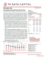 JD: 2H19 Investing For User Growth In Lower Tier Cities; New Initiatives Driving Better Topline Growth In 3Q19