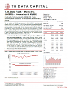 T. H. Data Flash – Momo Inc. (MOMO) – November & 4Q19E: Positive On Performance Into 4Q19E With Faster Recovery From Sanctions In The Summer; Maintain Buy Rating