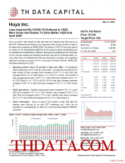 HUYA: Less Impacted By COVID-19 Outbreak In 1Q20; More Hosts And Games To Drive Better 1Q20 And April 2020