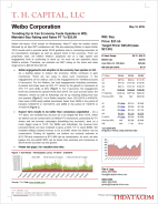 T.H. Capital - Weibo Corporation: Trending Up In Fan Economy Fuels Upsides in WB; Maintain Buy Rating and Raise PT To $25.00