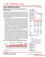 T.H. Capital - Leju Holding Limited: Market Hike In March Led To Market Tightening; Maintain Hold