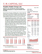 T.H. Capital - Huazhu Hotels Group Ltd.: Expect In Line 1Q16 Results and 2Q16 Guidance; Shanghai Disneyland is A Long-Term Benefit; Raise PT to $40