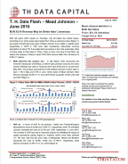 T. H. Data Flash – Mead Johnson – June 2016: MJN 2Q16 Revenue May be Better than Consensus