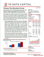 Chinese TAL Education Group: Expect Strong FY1Q17 on Robust Enrollment and Course Growth; Increase in Capacity and Price Can Sustain Growth in FY2017; Maintain BUY and Raise PT to $68